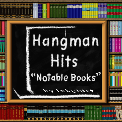 HANGMAN HITS: Notable Books (cover art)